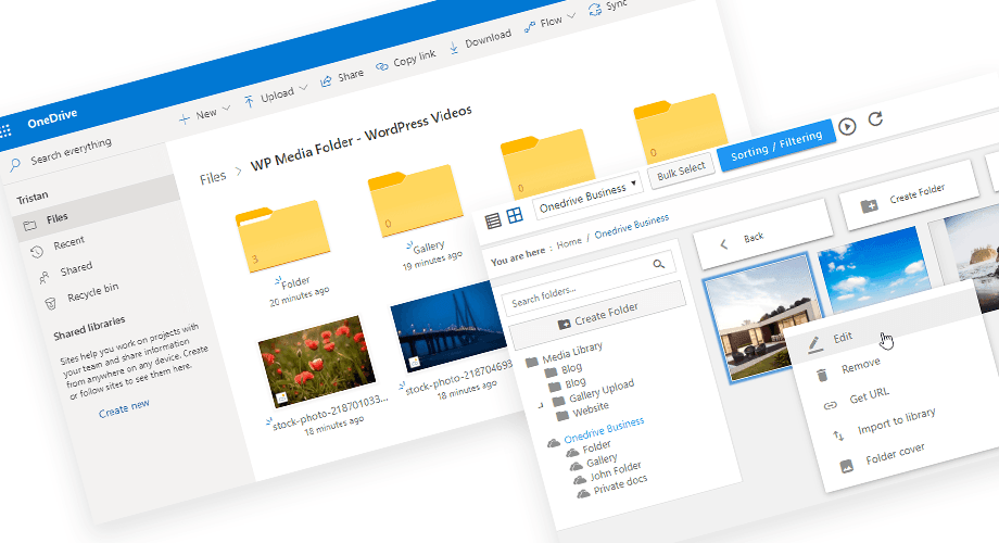 Edit- onedrive -бизнес-from- wordpress