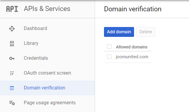 add-verify-domän