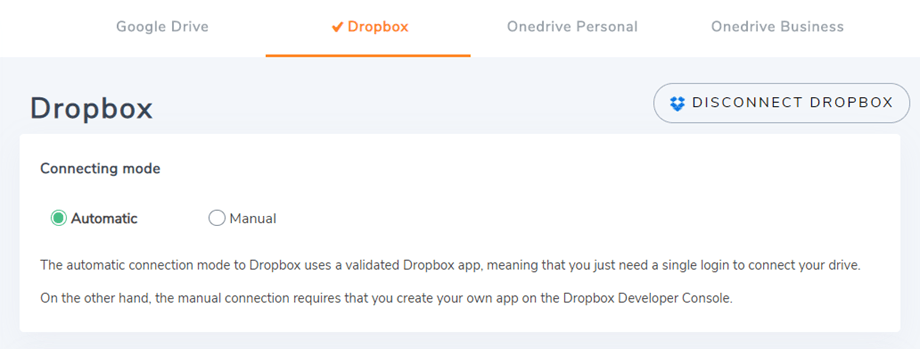auto-dropbox-connected