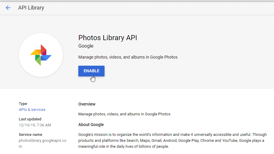 google-photo-api