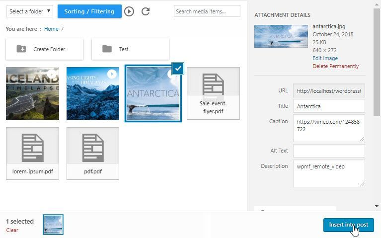 Embed, Manage Videos & PDF in the WordPress Media Manager