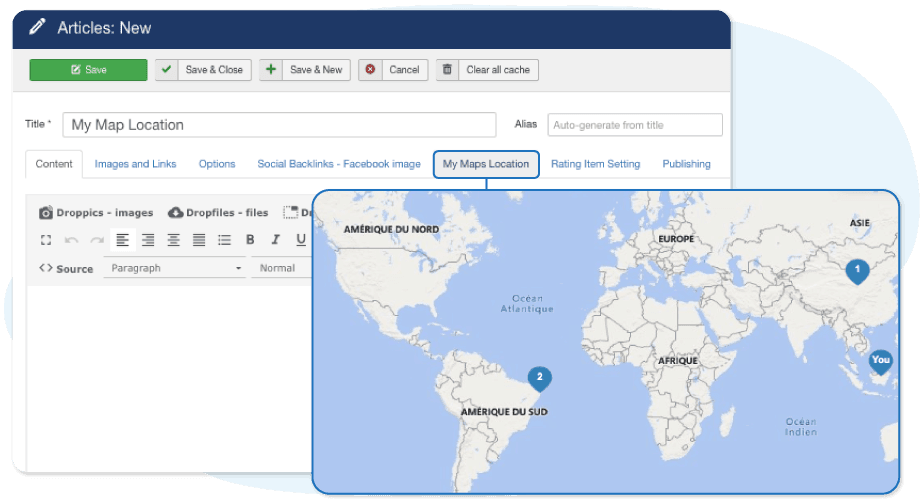 Add Location to Joomla Articles