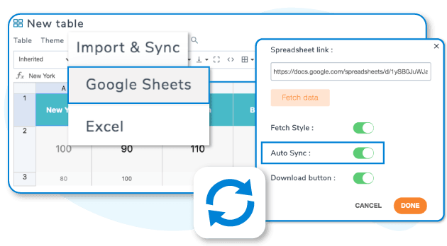 Automatisk Google Sheets-synkronisering