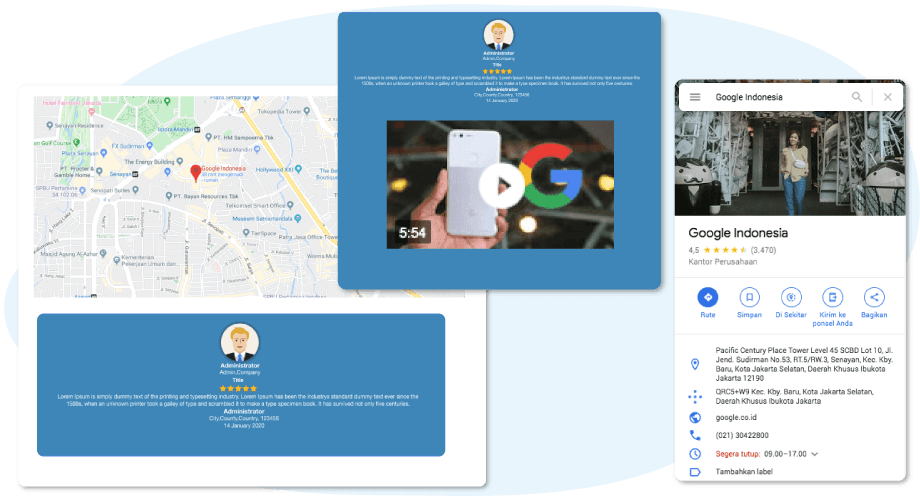 Google Maps and YouTube Testimonials