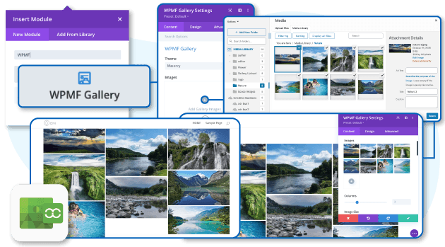 Manage media with folders in DIVI image modules