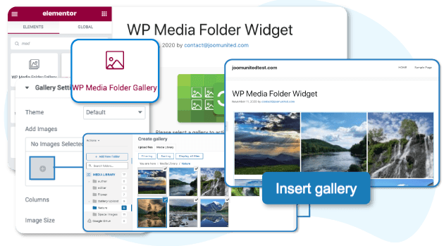 Manage media with folders in Elementor image widgets