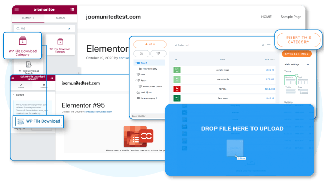 Upload and manage files from frontend with Elementor