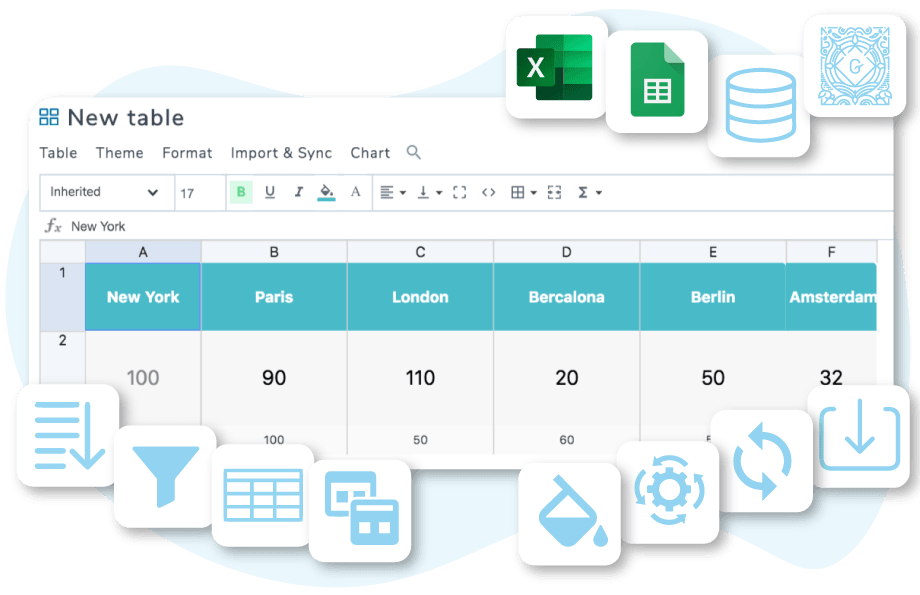 WP table manager Plugin neues Design