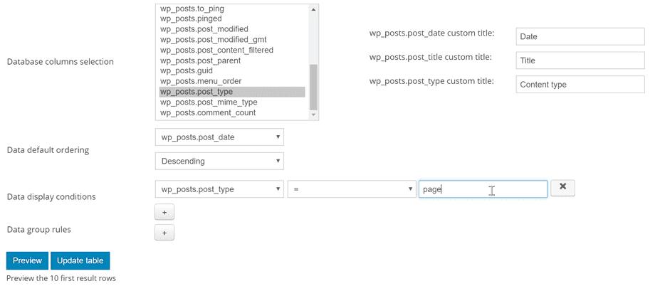 database-filter